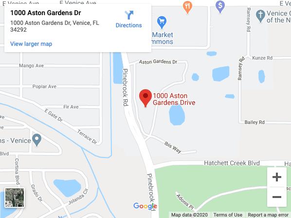 Google map of aston gardens in venice fl