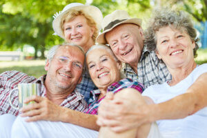 Seniors Are Happy and Healthy.