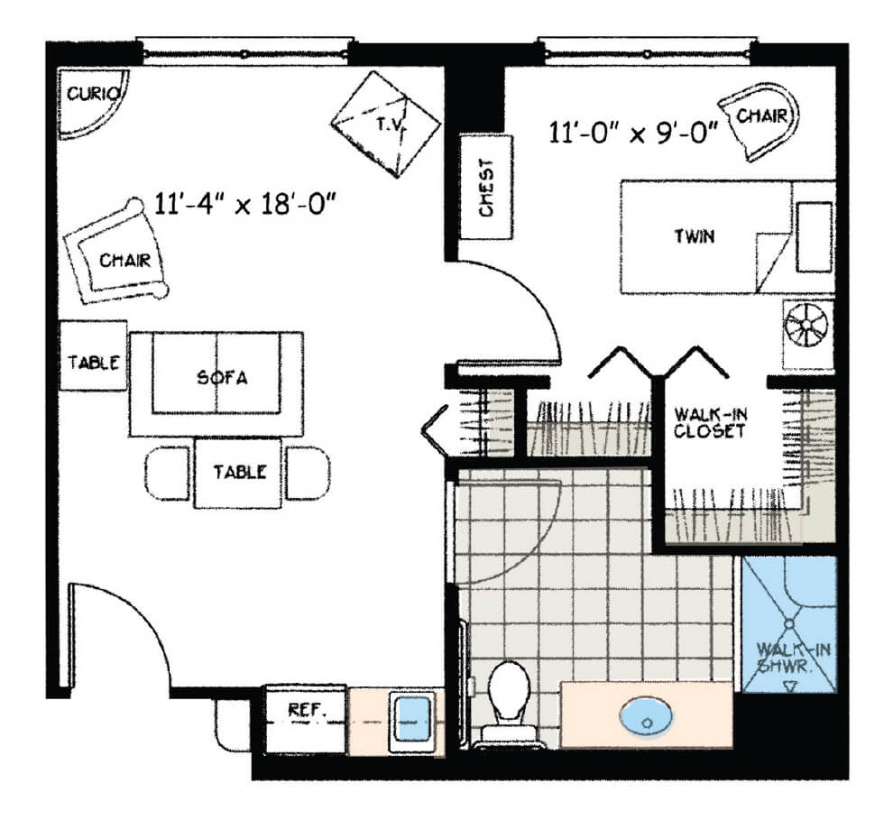 One Bedroom Deluxe (Assisted Living)