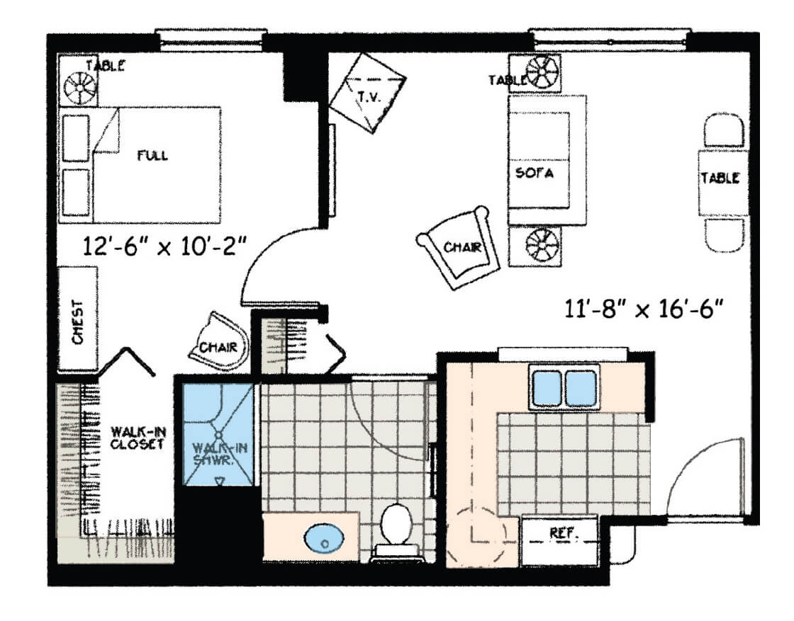 One Bedroom Premium (Assisted Living)