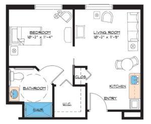 aston gardens pelican pointe single bedroom floor plan