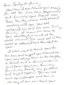 Aston Garden hand written document