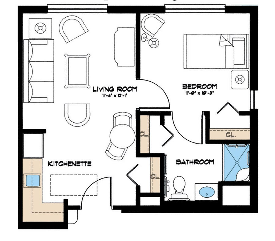 Aston Gardens at Pelican Marsh Floor Plan for assisted living