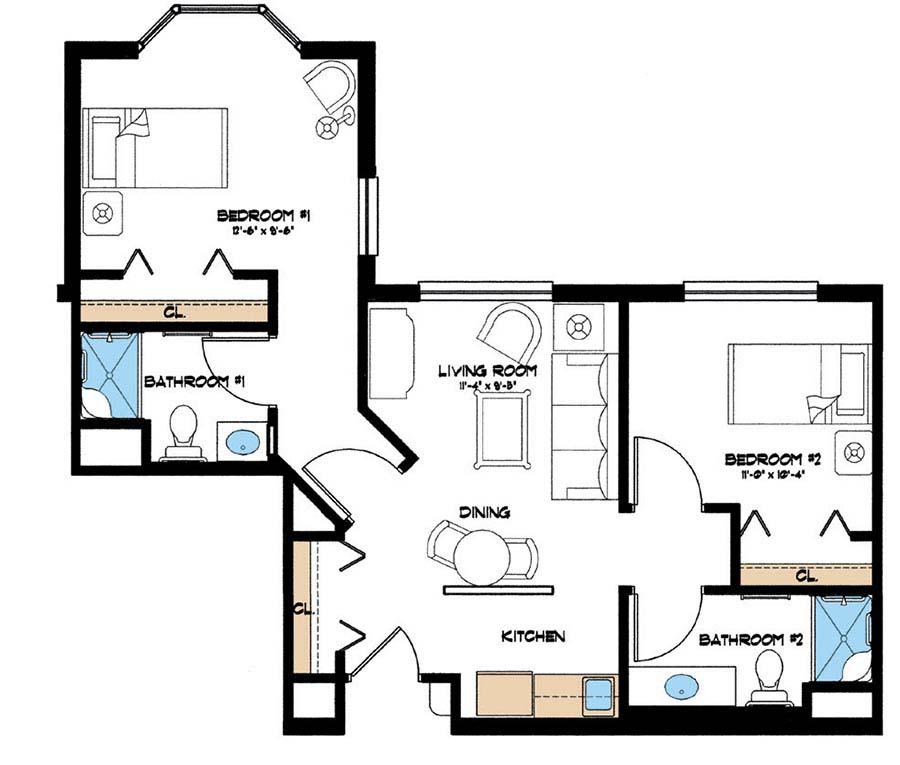 Aston Gardens At Pelican Marsh Assisted Living B floor plan