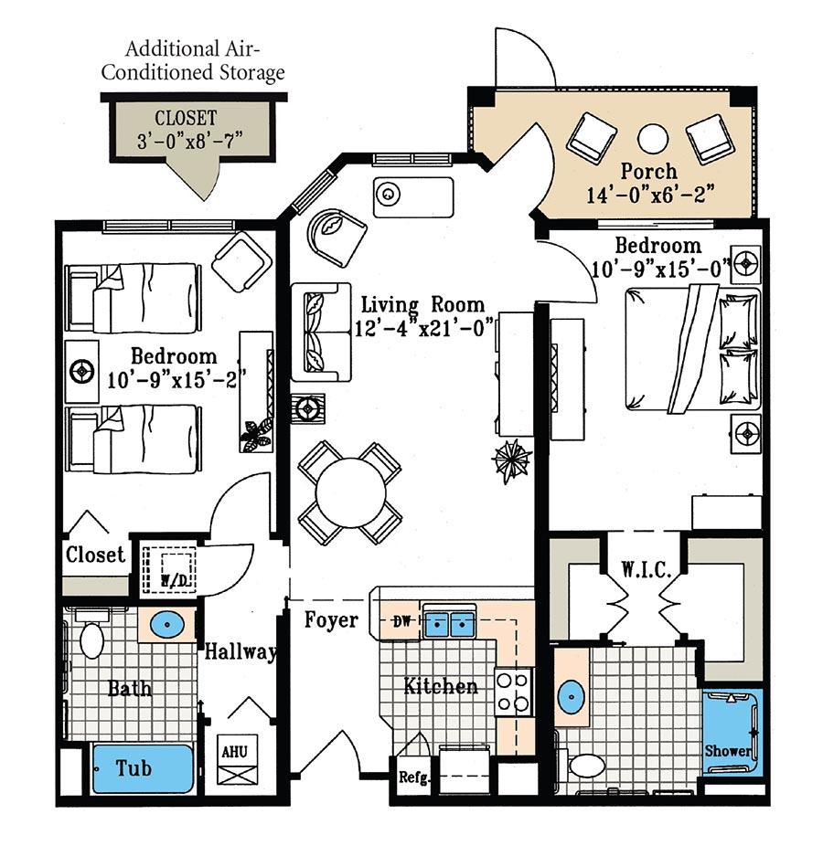 Aston Gardens At Pelican Marsh Alexandra suite floor plan