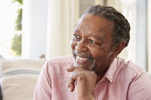 senior man smiling during Naples Florida Senior Living Programs