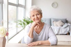 a woman enjoying her stay at an independent senior living homes Venice FL