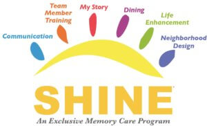 Shine memory care program infographic